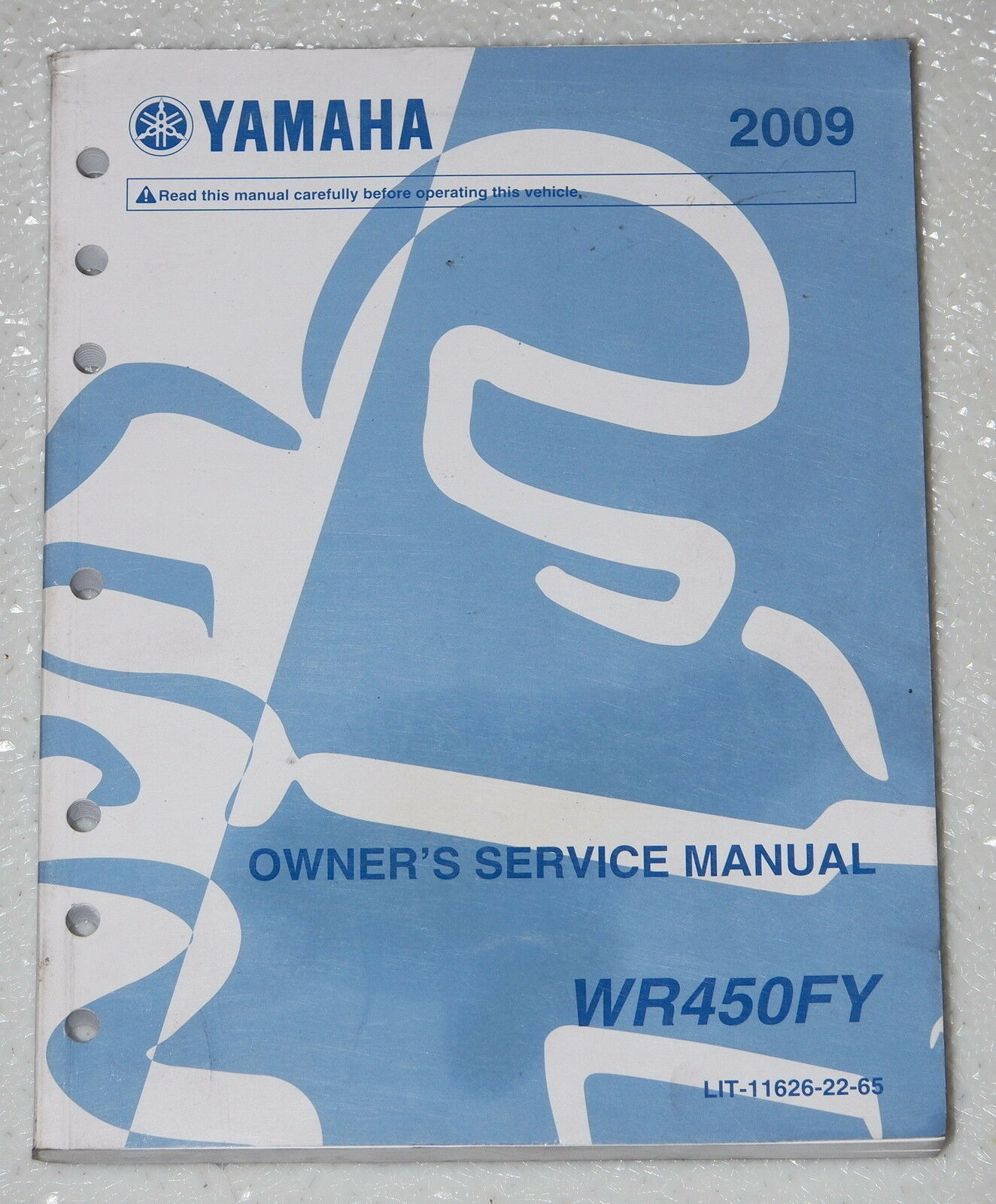 2009 YAMAHA WR450FY WR450F WR450 Motorcycle Original Owners Shop Service  Manual 1 of 1Only 1 available ...