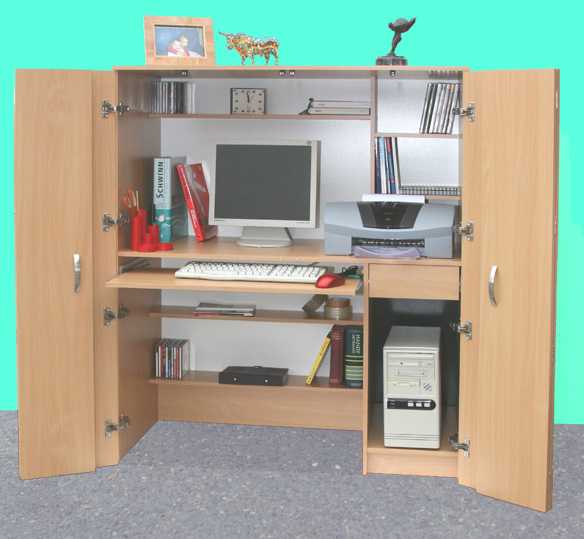 Home Office Hideaway New Computer Desk R171 I