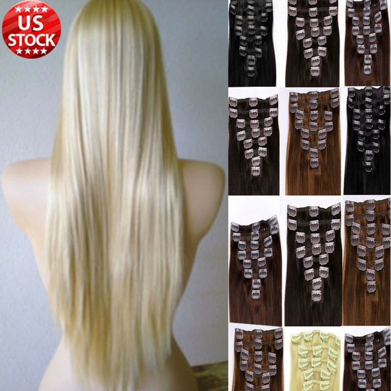 Best Selling Clip In Remy Human Hair Extensions Full Head 18 20 22