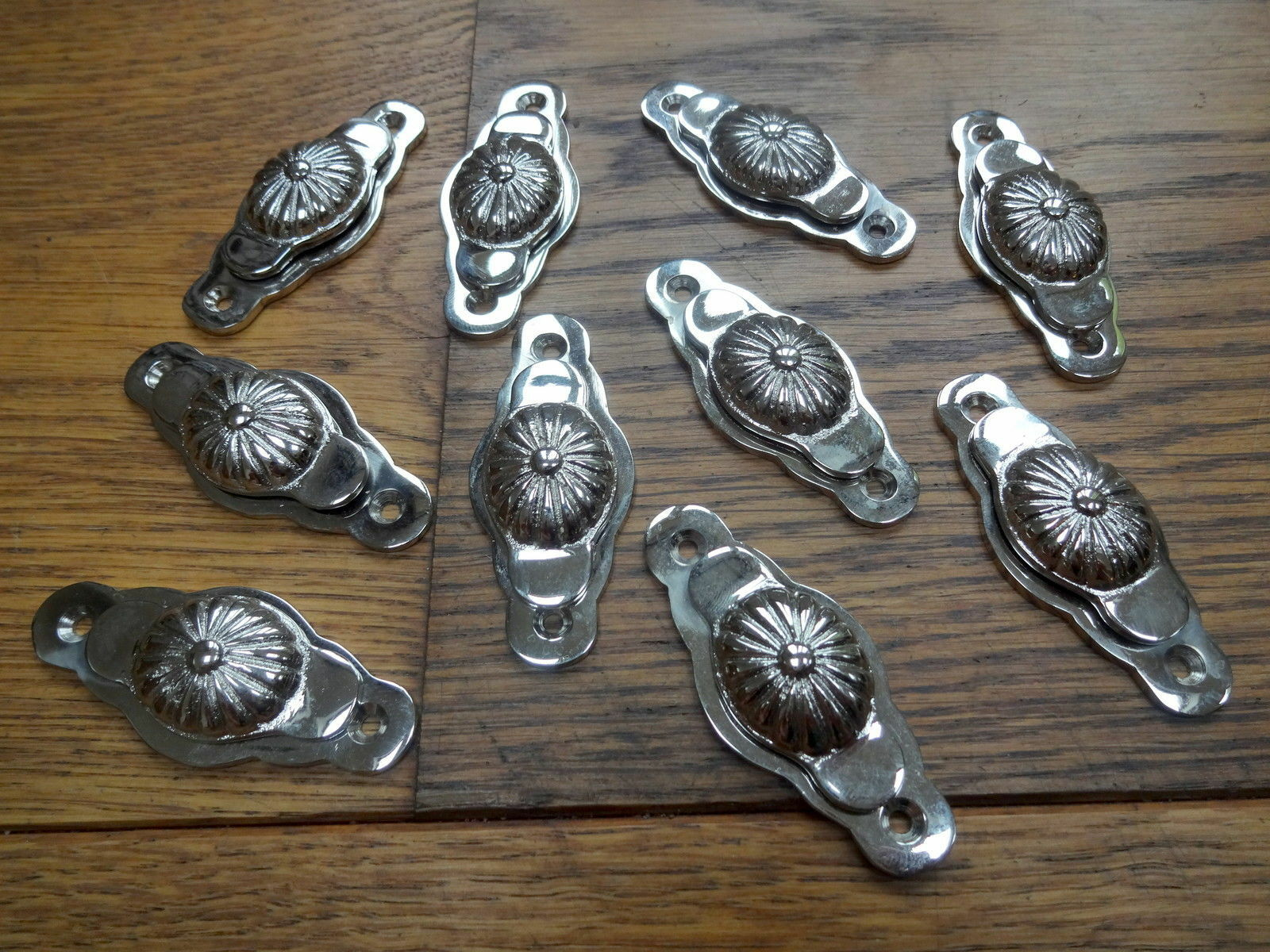 10 X Chrome Or Nickel Escutcheons Door Key Hole Covers