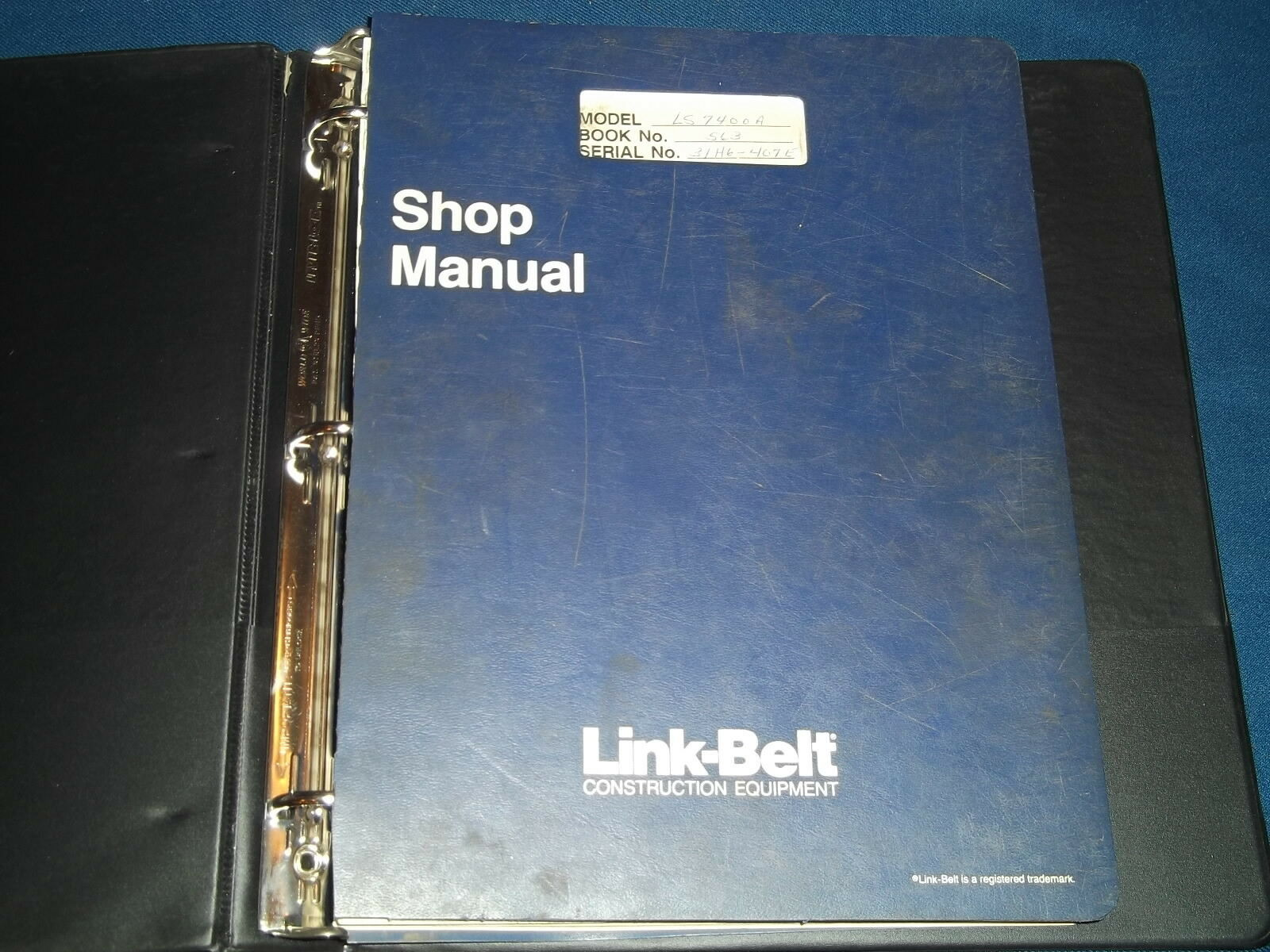 Link Belt Ls7400A Excavator Service Shop Repair Book Manual 1 of 2Only 1  available ...