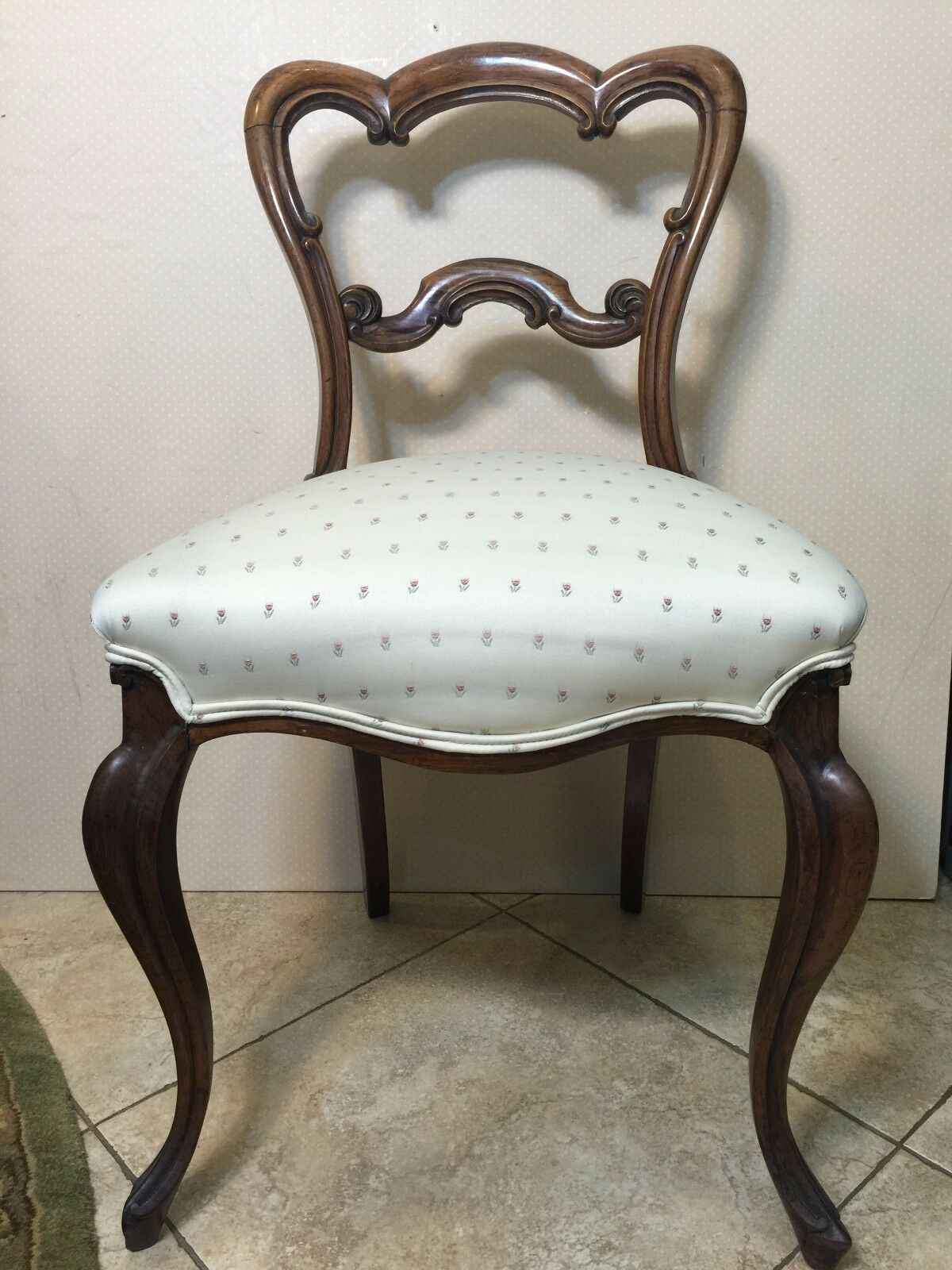 """Antique English Victorian Walnut Dining Chair-Fine Quality, 33"""" T x 19"""" Widest"""