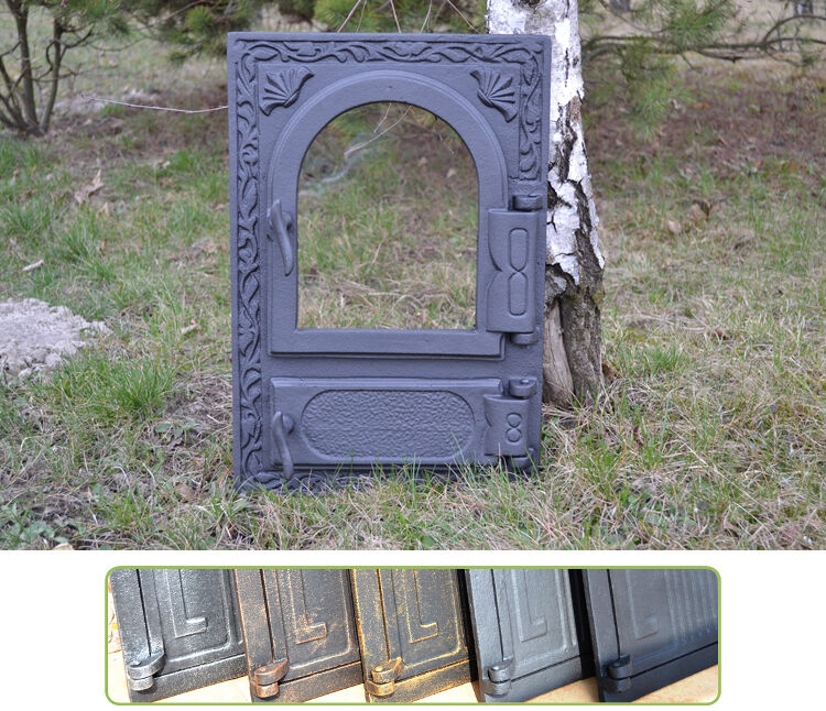 32,5x49cm BIG Cast iron fire door clay / bread oven /pizza stove fireplace DZ022