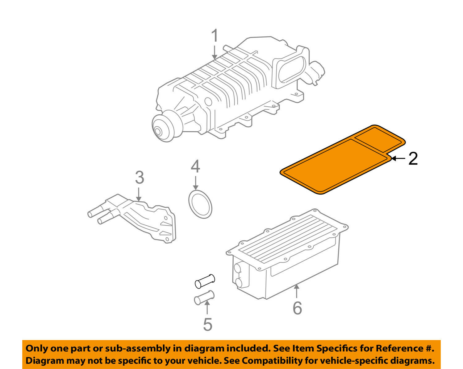 Ford Oem 10 14 Mustang Engine Intake Manifold Gasket 7r3z9h486aa With Diagram 1 Of 2only Available See More