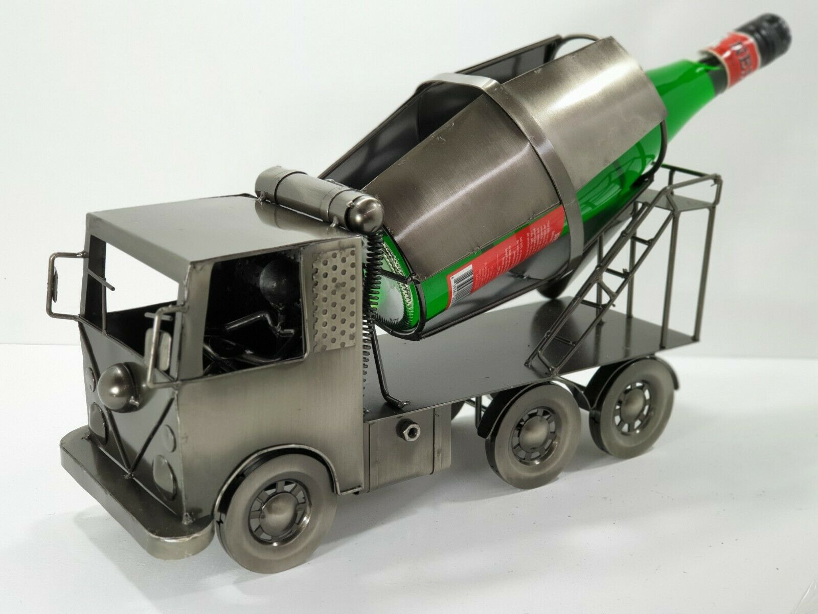 novelty gift wine bottle wine rack transport cement mixer truck man cave bar