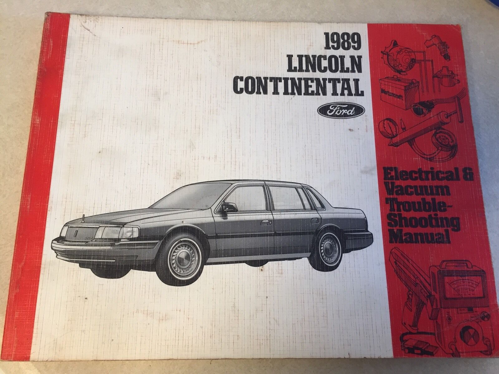 1989 Ford Lincoln Continental Wiring Diagram EVTM Manual 89 Repair 1 of  1Only 1 available ...