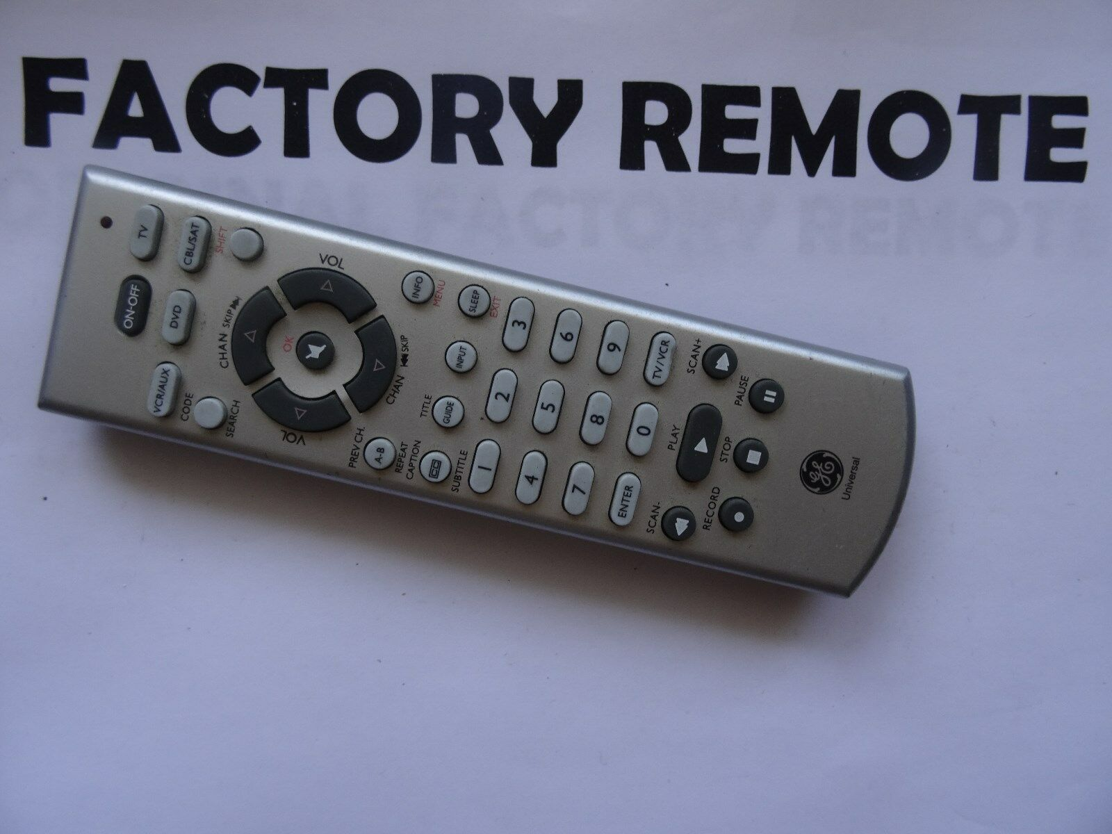 Ge General Electric Rc24977-B 4-Device Universal Remote Control 1 of 1Only  1 available See More