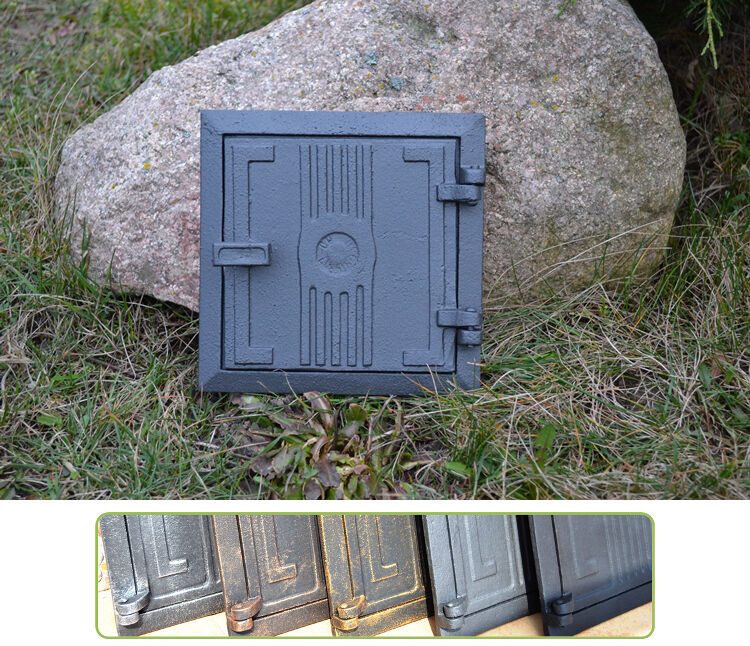 17x17 cm Cast iron fire door clay / stove bread oven / Chimney Clean Out / DZ056