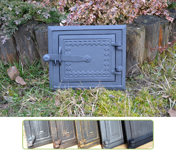 25,5x21,5 Cast iron fire door clay / stove bread oven / Chimney Clean Out /DZ057