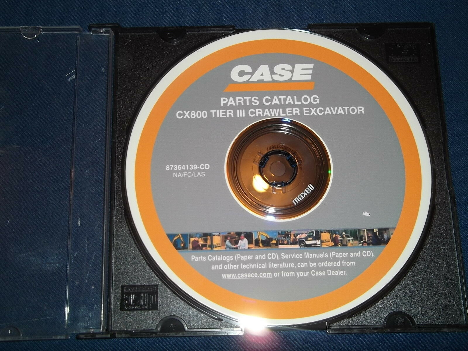 Case Cx800 Tier Iii Crawler Excavator Parts Book Manual Cd 1 of 1Only 1  available ...