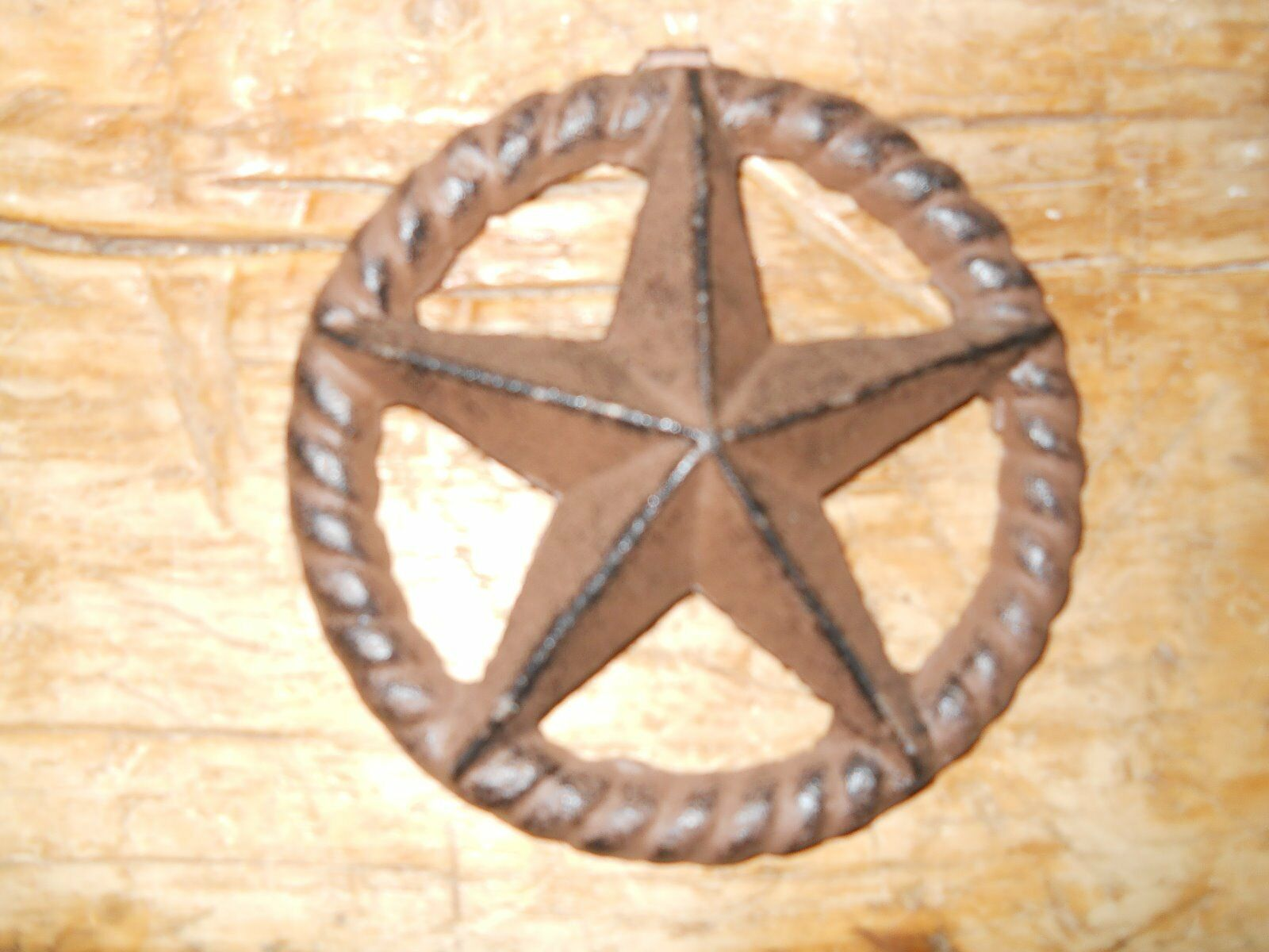 """3 Cast Iron Stars Architectural Stress Washer Texas Lone Star Rustic Ranch 5"""""""