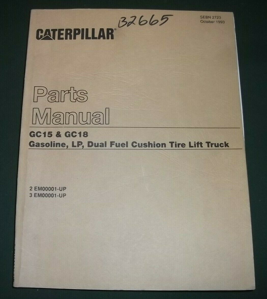 Cat Caterpillar Gc15 Gc18 Forklift Parts Book Manual 1 of 2Only 2 available  ...