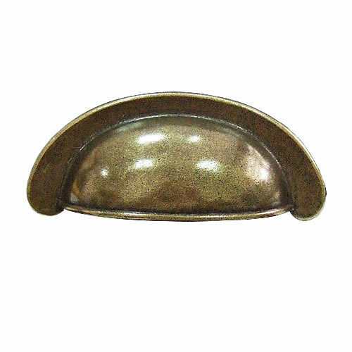 10 Pcs Antique Brass  Rustic Cup Pull Cabinet Cupboard Drawer Door Draw Handles