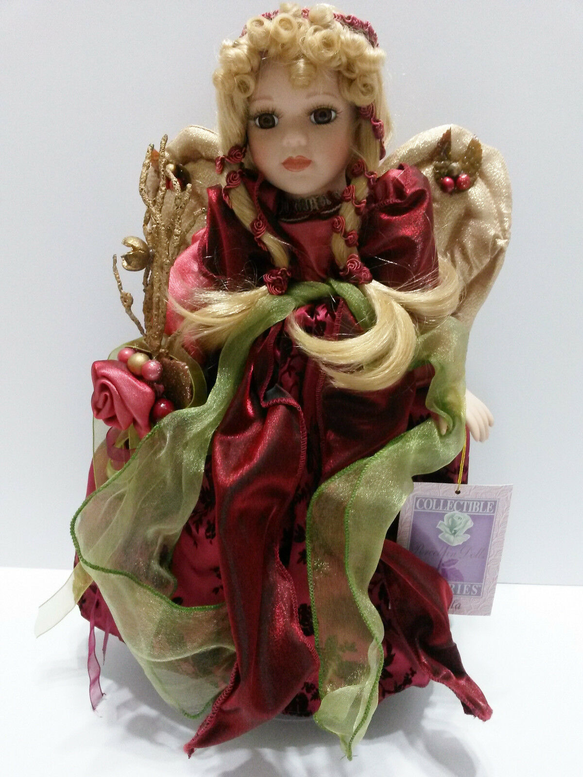 "Collectible Memories 16"" Angela Porcelain Doll with Wings ..."