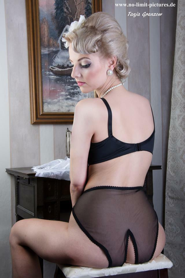 Pin UP Nylonhöschen Nylonslip Nylon Panties Ouvert