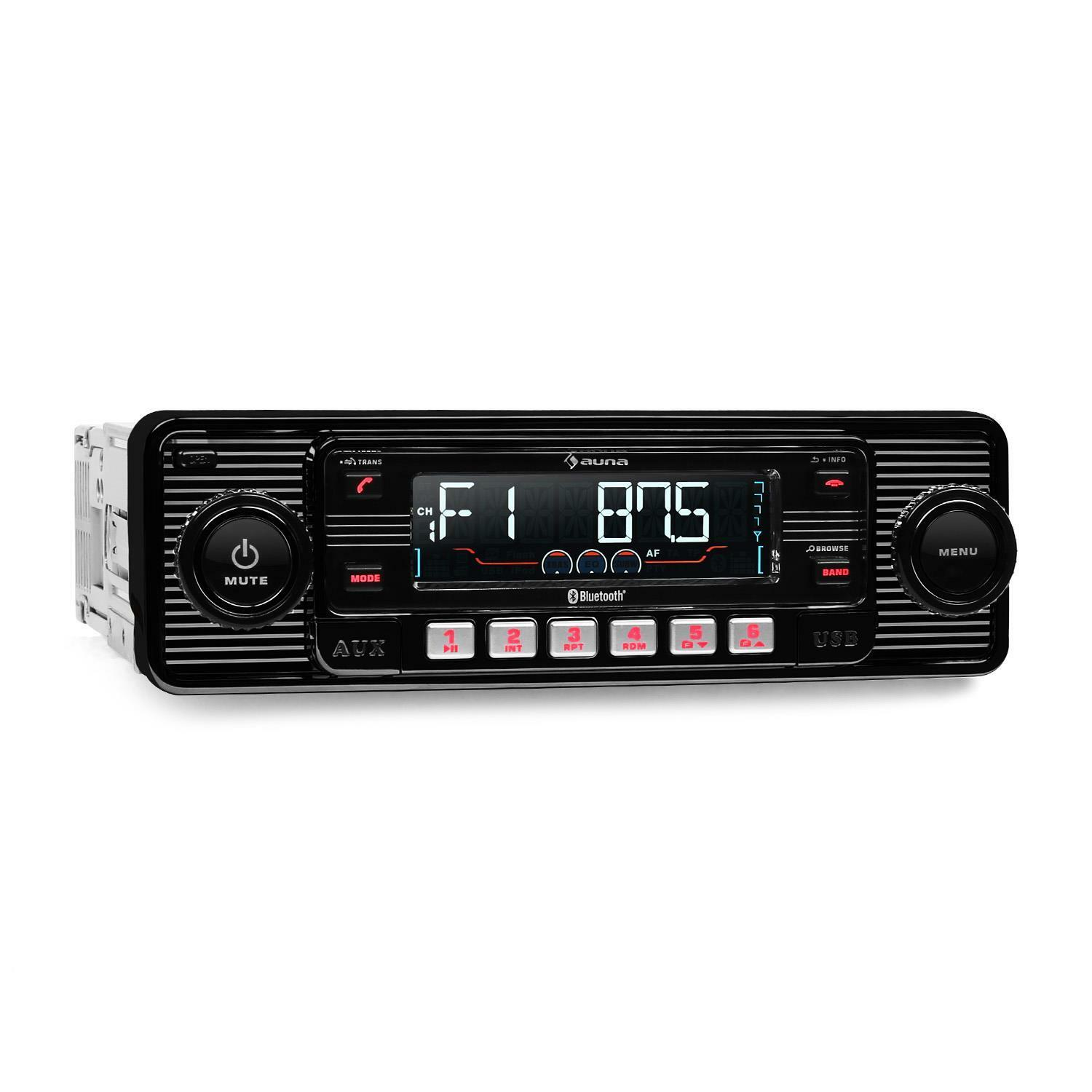 autoradio bluetooth look retro auna lecteur cd mp3 usb sd radio fm rds streaming eur 125 99. Black Bedroom Furniture Sets. Home Design Ideas