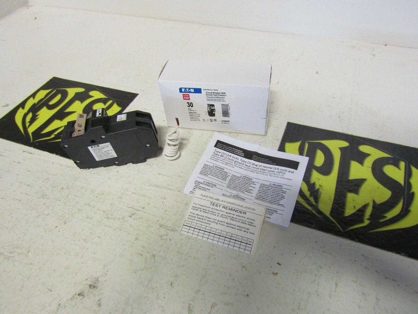 Nib Eaton Cutler Hammer Ch230gft Ch230gf 2 Pole 30amp Gfci Circuit 30 Amp 3 4 In Doublepole Type Ch Breakerch230 The Home Breaker 1 Of 1free Shipping See More