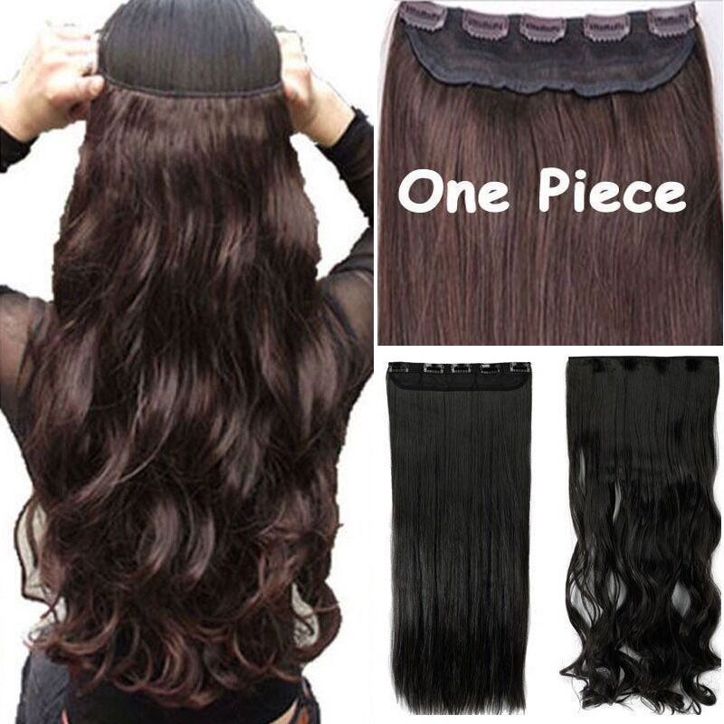 100thick 17 30 Inch 34 Full Head Clip In Hair Extensionsbrown