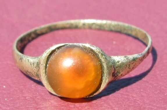 Metal Detector Find> Authentic Ancient FINGER RING Sz: 5 US 15.75mm 0913 DR