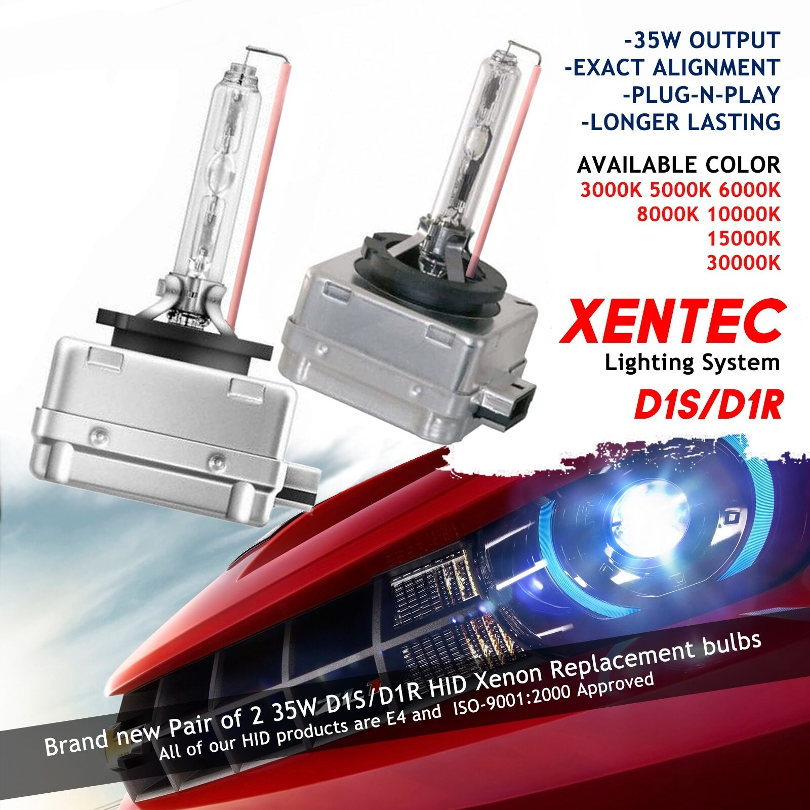 Xentec Xenon Lights Bulbs Hid Kit D1s D1r 3000k 5000k 6000k 8000k 9007 Wiring Diagram 10000k 15000k 1 Of 12free Shipping