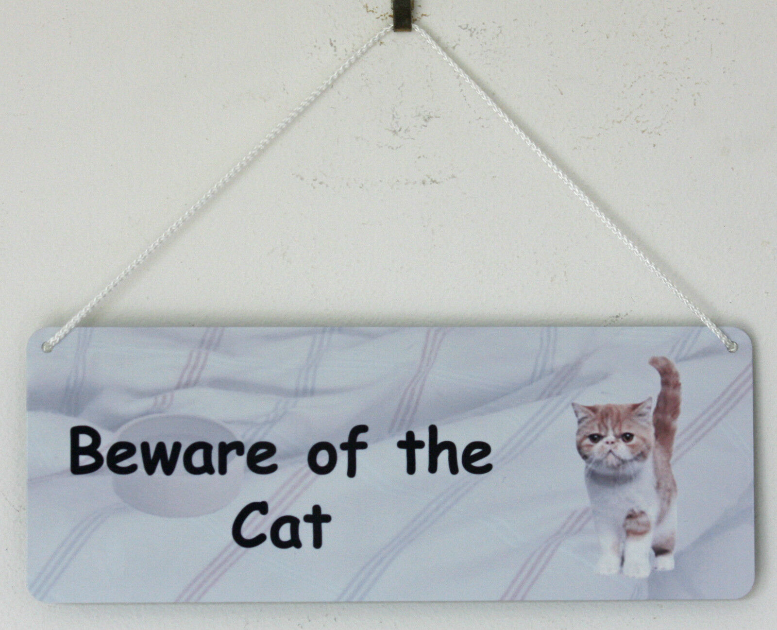Beware of the Cat - Amusing Cat Sign - Can be Personalised with Your Cat Photo