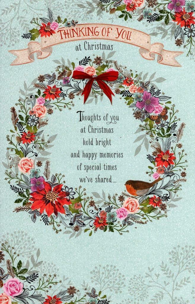 Traditional thinking of you at christmas greeting card lovely verse traditional thinking of you at christmas greeting card lovely verse xmas cards 1 of 2free shipping m4hsunfo