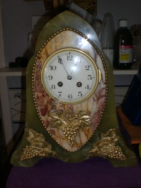Superb Antique Large Marble French Mantle Clock