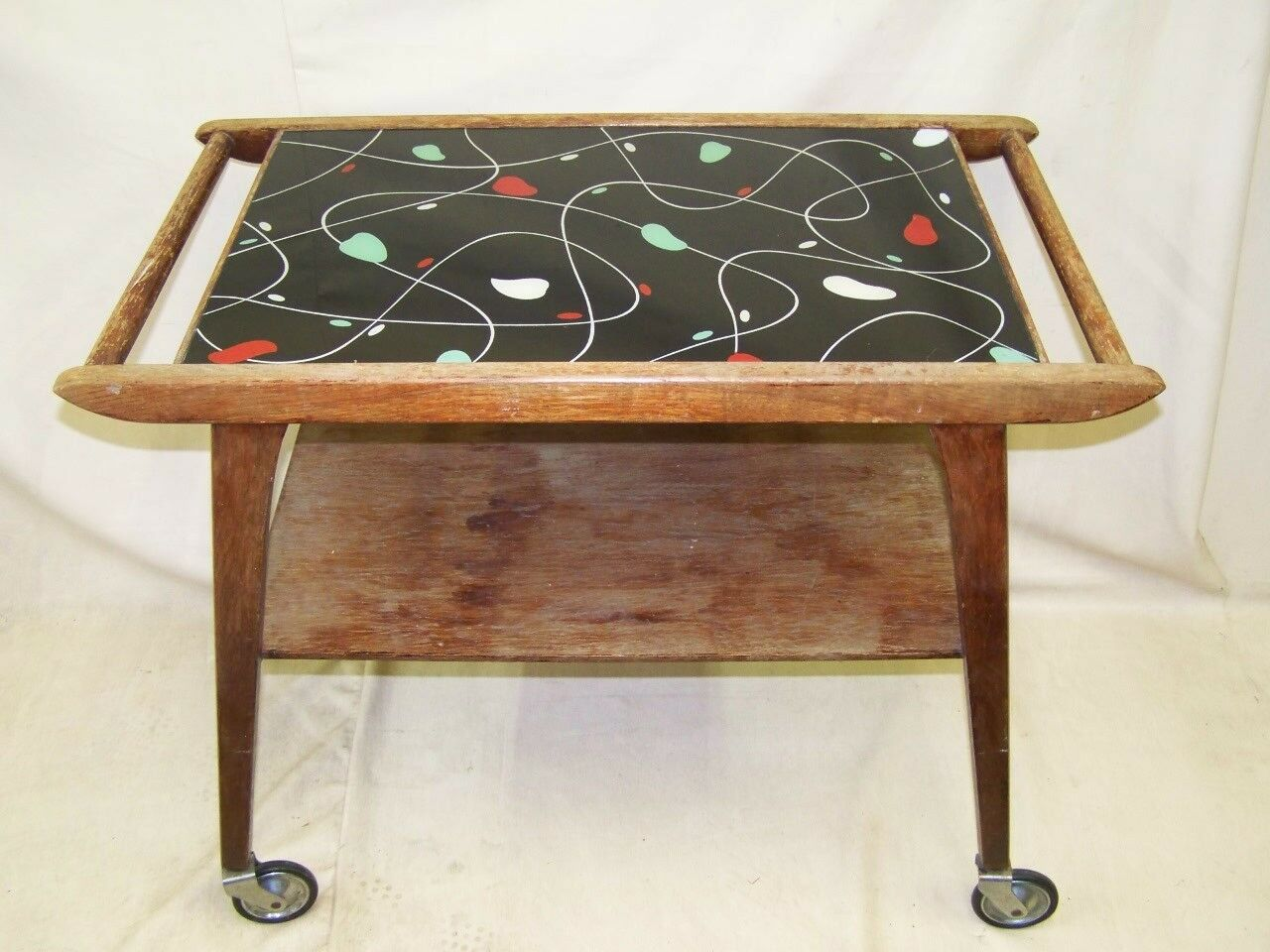 Rare antique Serving trolley,Iconic Design 1950s Years Rockabilly Tea trolley