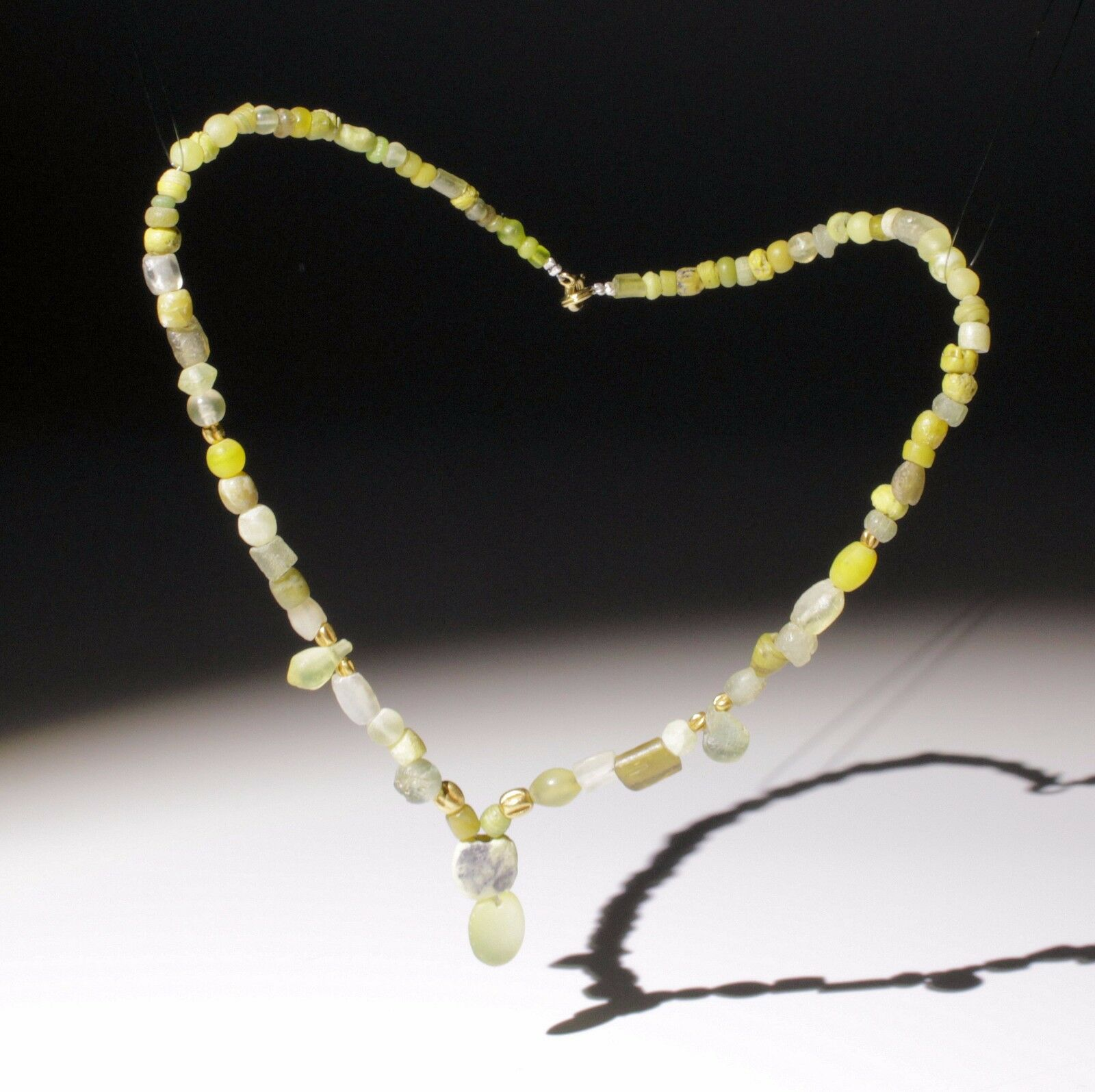 Beautiful Ancient Roman Glass & Gold Bead Necklace - Circa 2Nd Century Ad