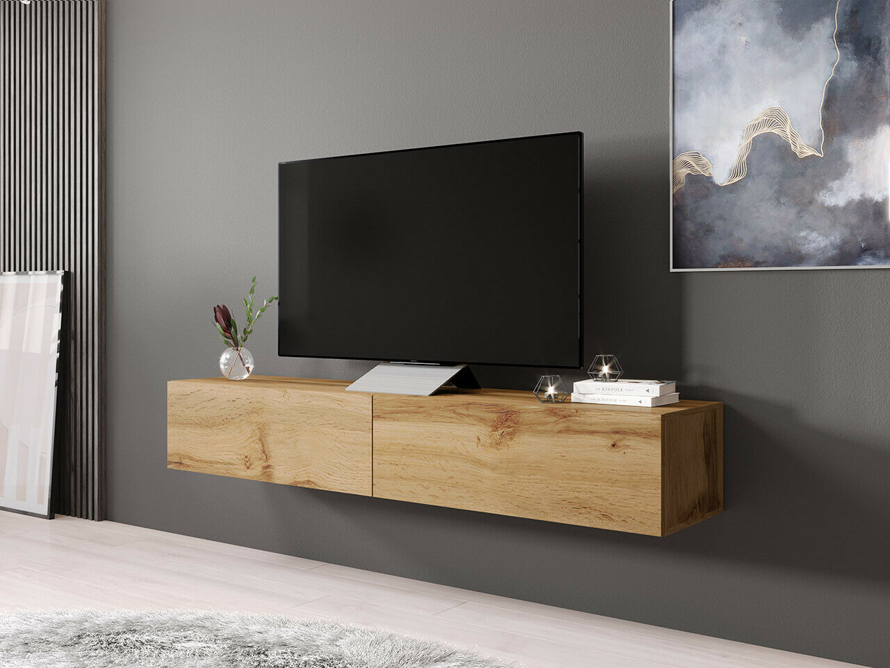 fernsehschrank tv board rack lowboard h ngeschrank h ngend hochglanz matt eur 115 00 picclick de. Black Bedroom Furniture Sets. Home Design Ideas