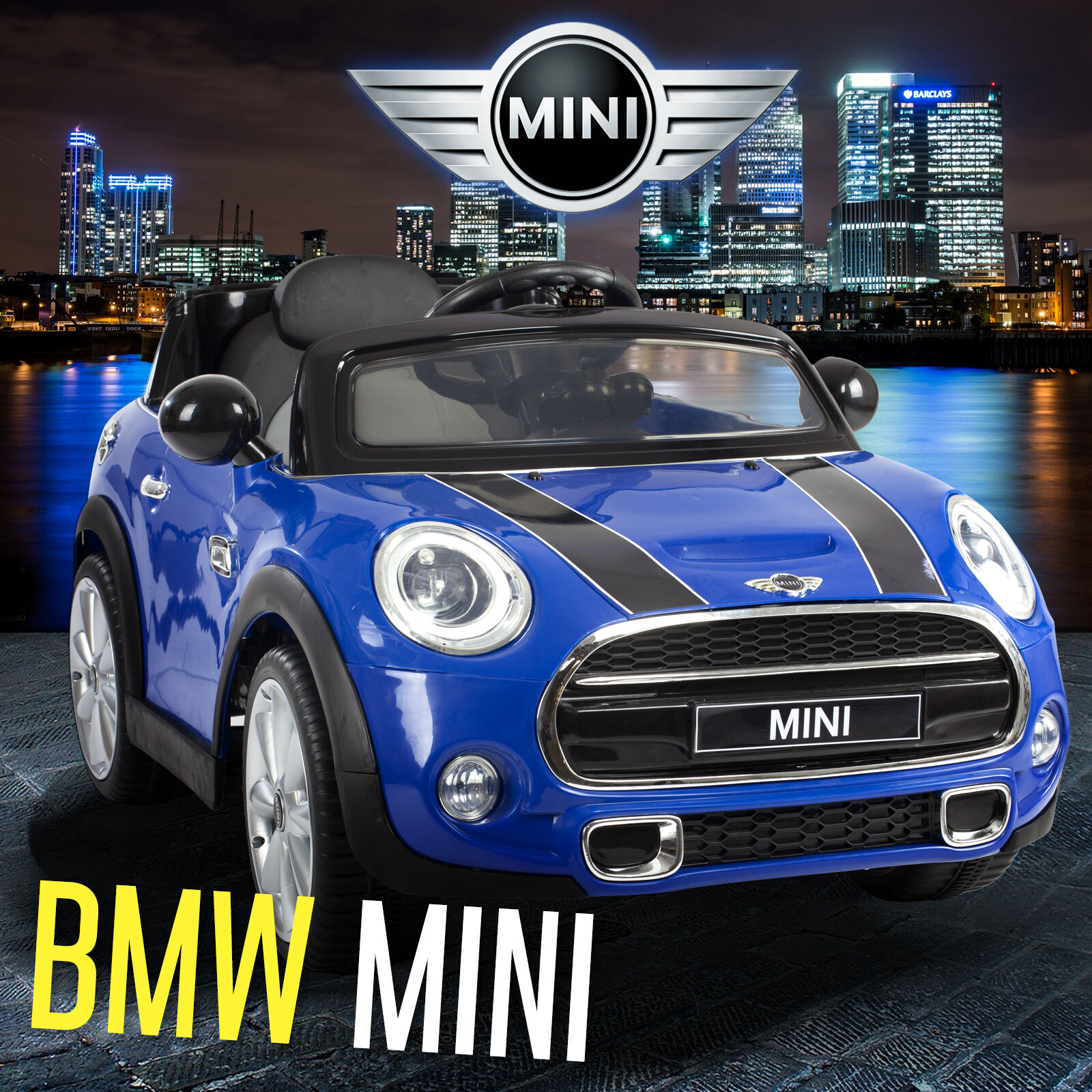 mini cooper s kids ride on car 12v battery 2x motor remote control cars licensed eur 135 77. Black Bedroom Furniture Sets. Home Design Ideas