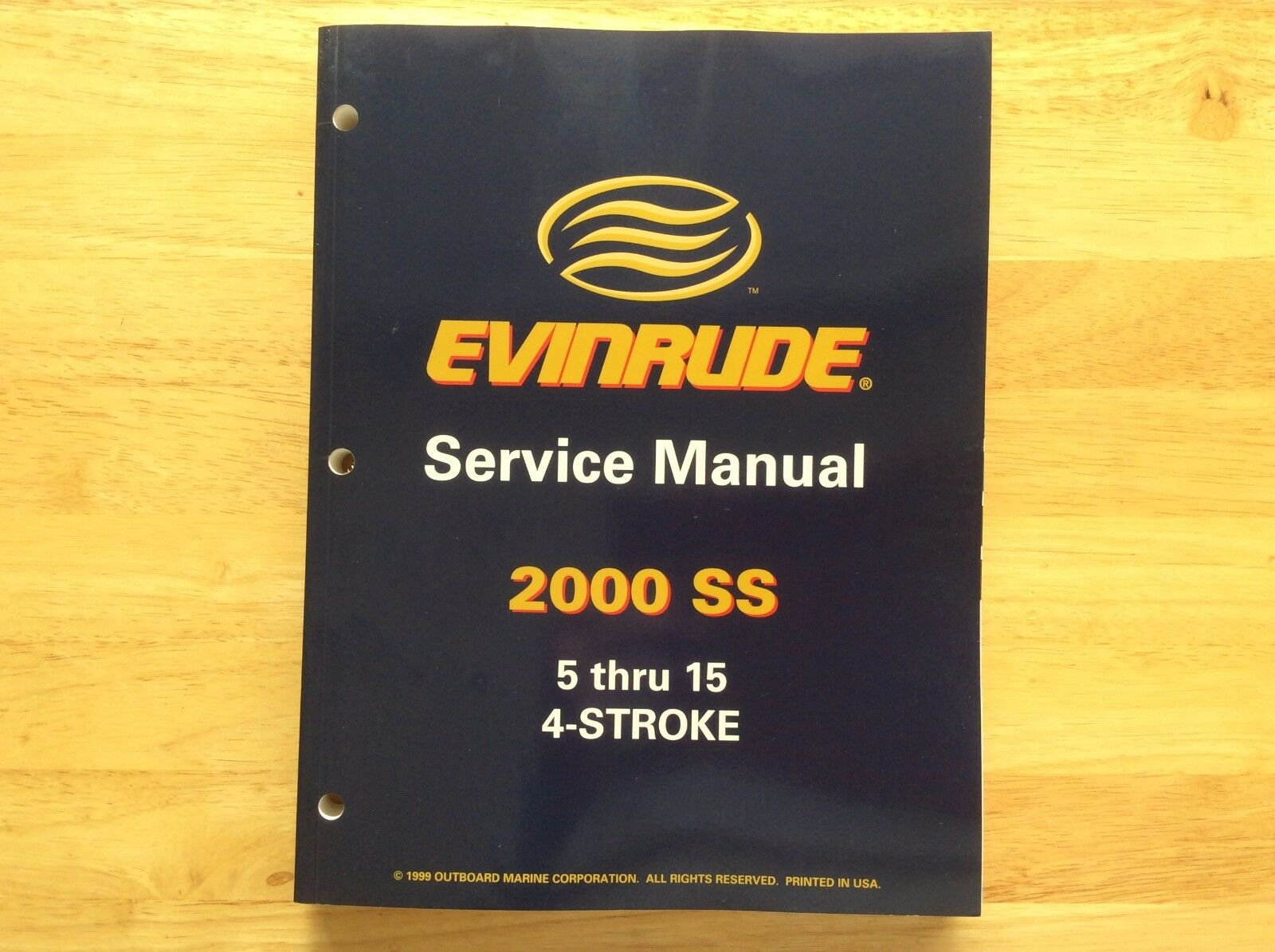 2000 Evinrude 5 thru 15 4-Stroke Service Manual, Part # 787060 1 of 10Only  1 available ...