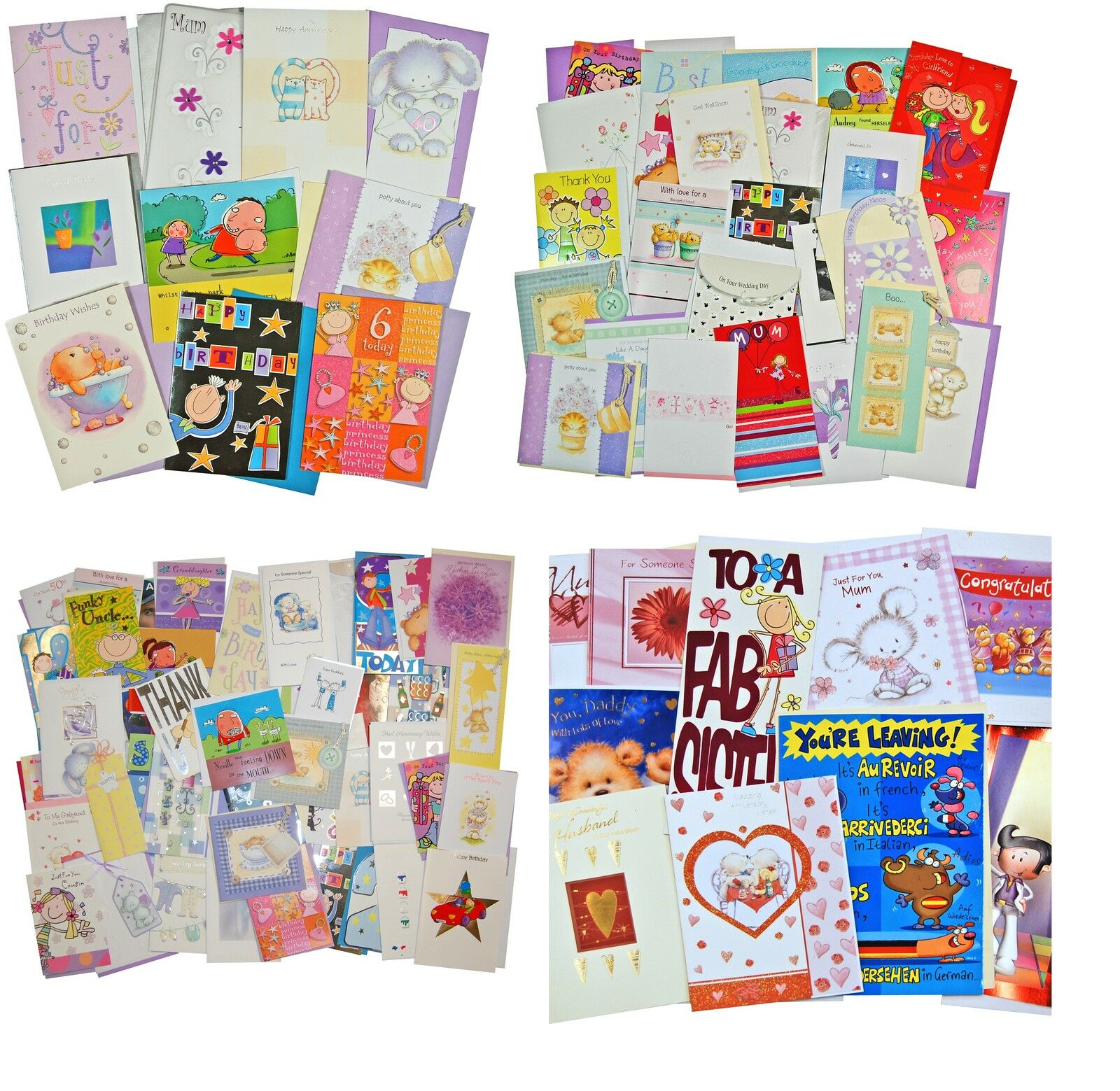 BULK GREETING CARD Packs. For Every Occasion Cheap Value ...