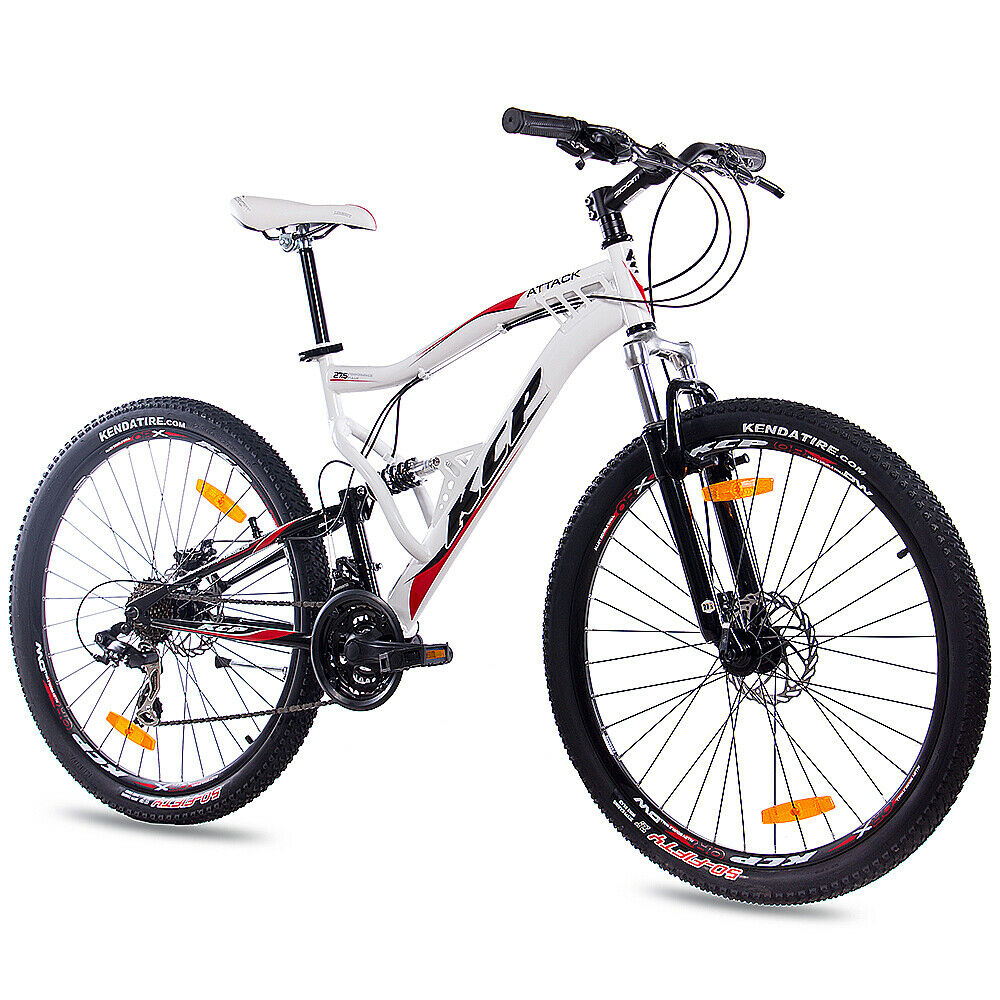 27 5 zoll mtb mountainbike fahrrad rad kcp attack 21 gang shimano weiss chf picclick ch. Black Bedroom Furniture Sets. Home Design Ideas
