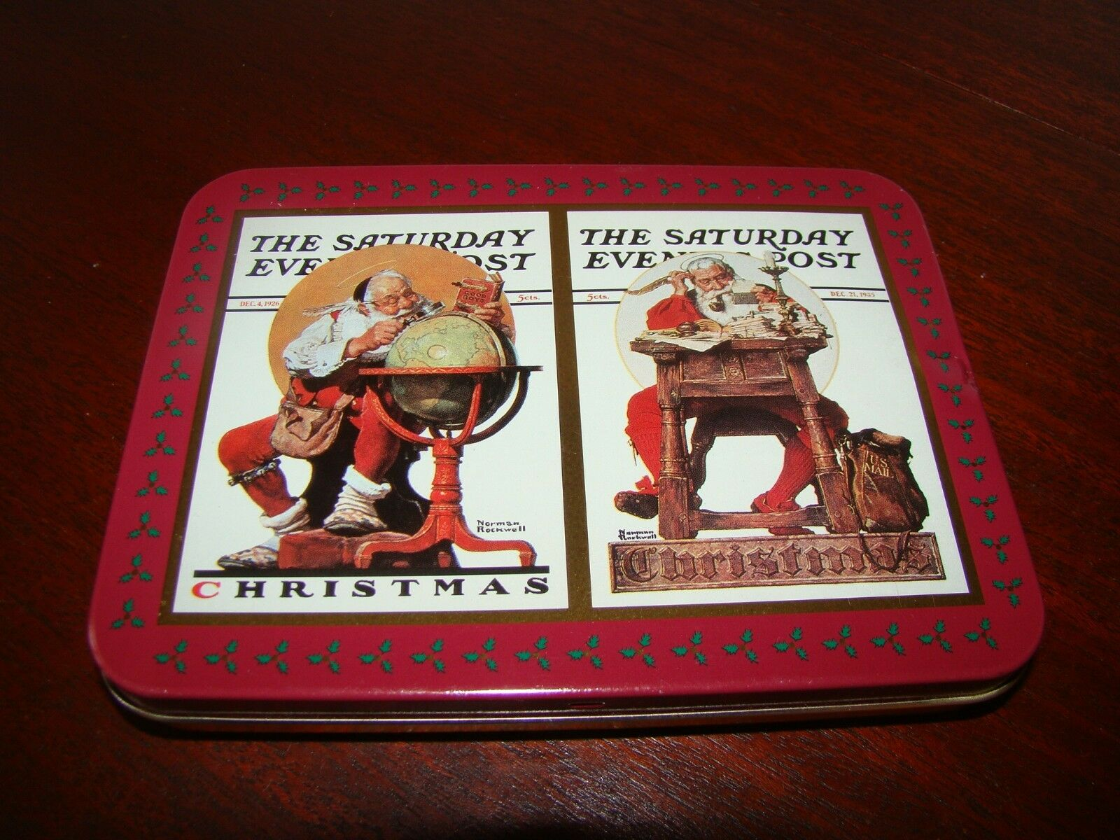 Norman Rockwell Christmas Card Set In Special Tin 1996 Nostalgic