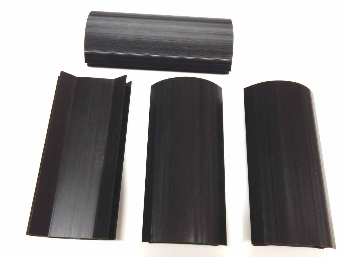 SET OF Larger Black X Inch Plastic Pool Table Corner - 3 1 2 x 7 pool table
