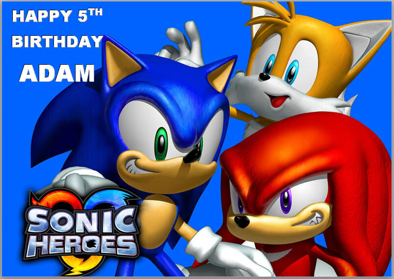 Sonic The Hedgehog Birthday Card A5 Personalised Own Words 329
