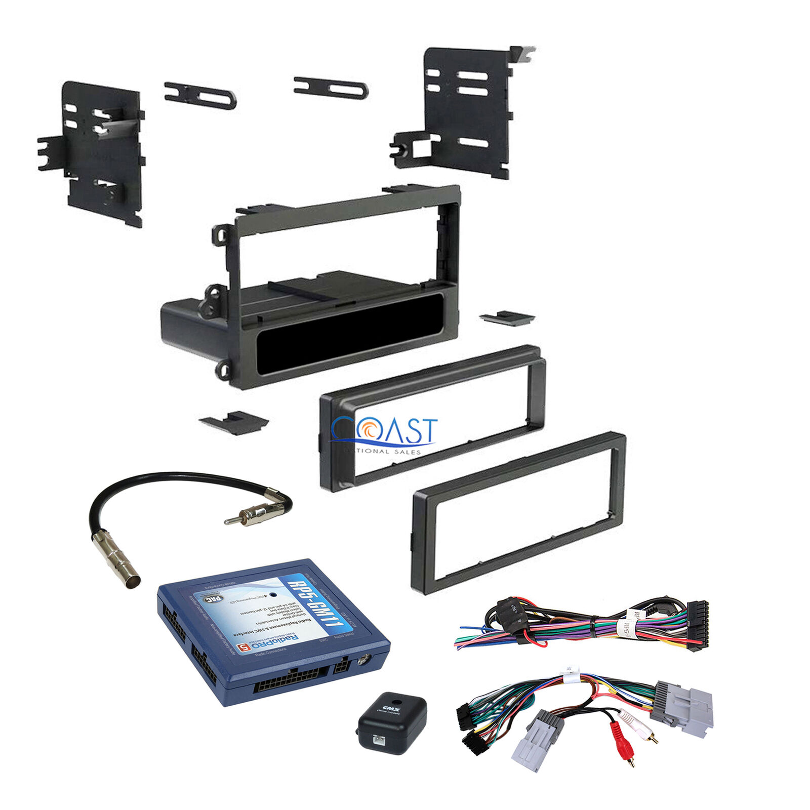 Car Stereo Single Din Dash Kit Bose Onstar Interface Harness For Wiring 1 Of 5free Shipping