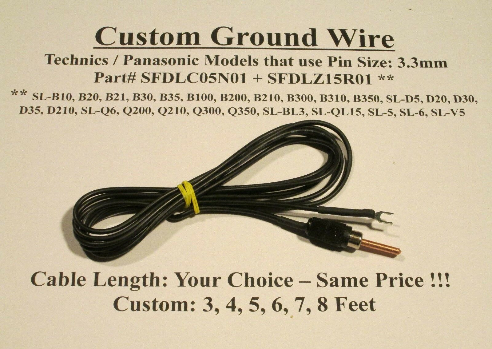 Silver Technics Turntable Ground Wire Plug Size 3 4 5 8f Wiring A With 1 Of 6