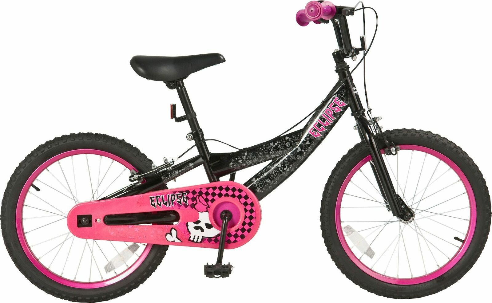 ECLIPSE 18 INCH Steel Frame Bike - BMX Style Tyres - Girls - Pink ...