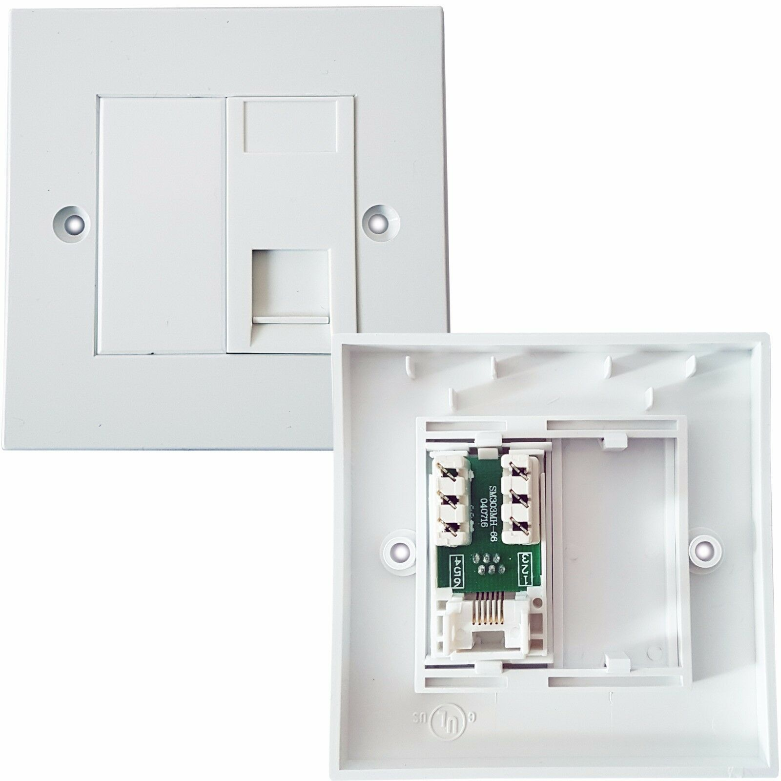 Rj11 Phone Socket Wall Face Plate Outlet Bt Router Modem Telephone Adsl Wiring Diagram For 1 Of 1free Shipping