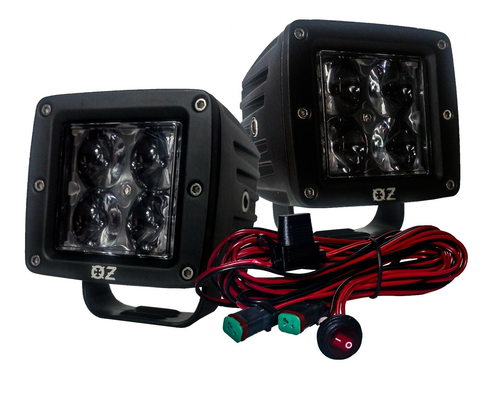 3 Ultra Spot Optic Lens 20w Led Pod Cube Wiring Harness Switch Spotlights 1 Of 10free Shipping