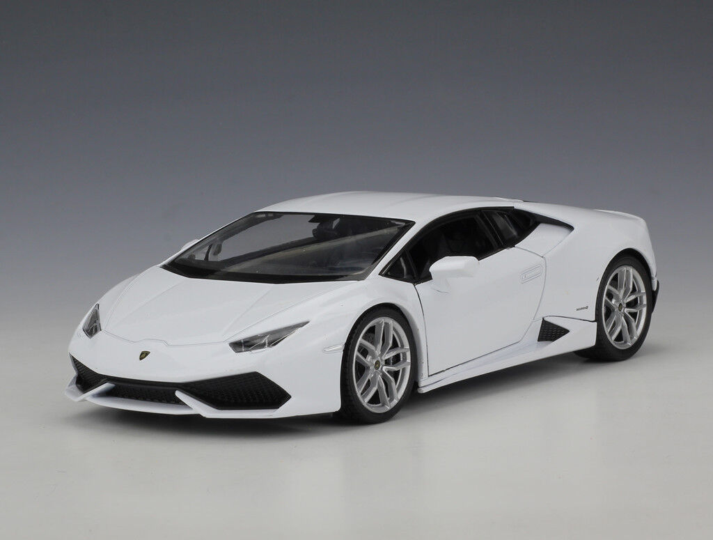 welly 1 24 lamborghini huracan lp610 4 diecast metal model car white 100 new cad. Black Bedroom Furniture Sets. Home Design Ideas