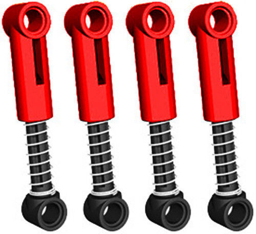 LEGO Technic 4 pcs RED SHOCK ABSORBER 6.5L Suspension Spring truck ...