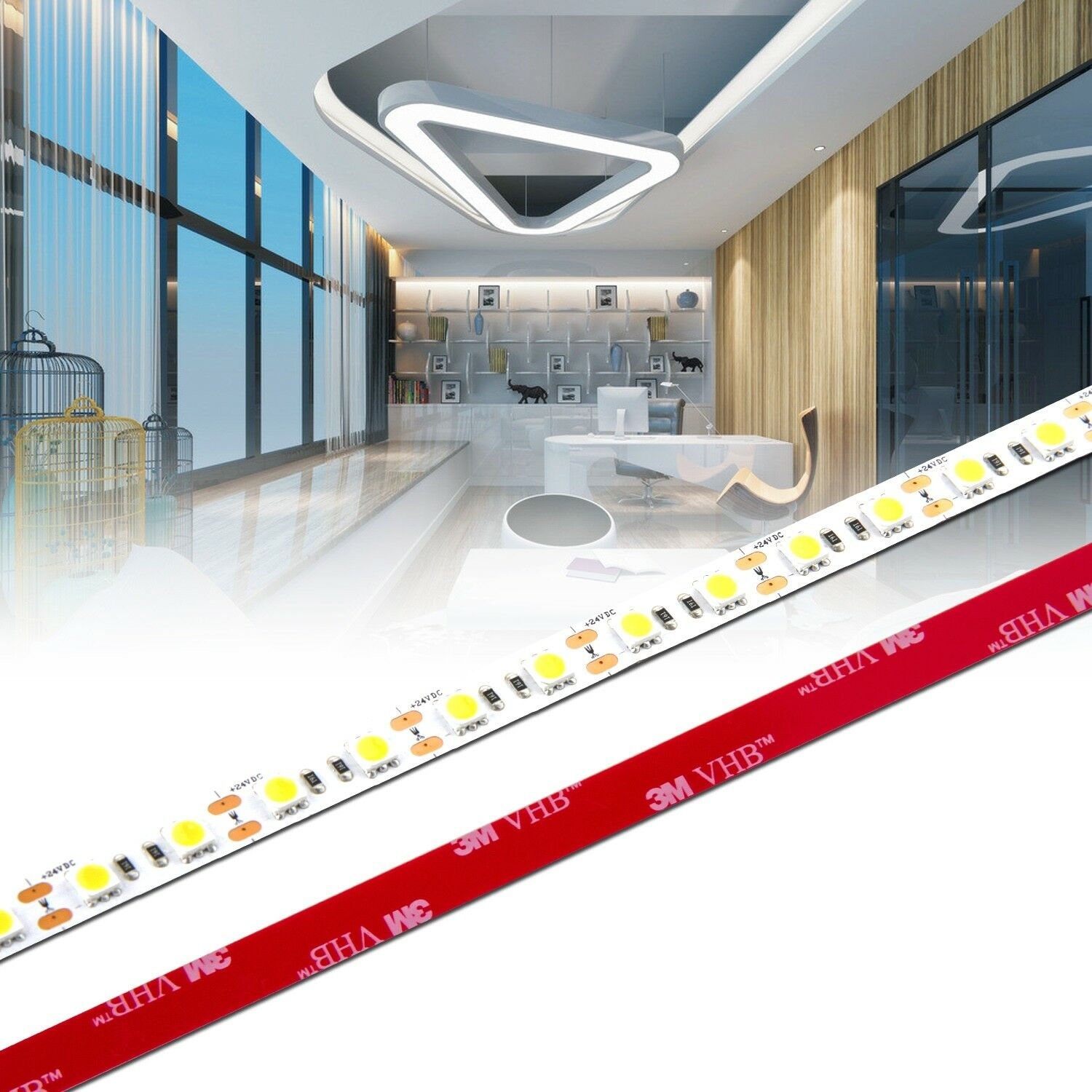 Ab 0 5m 20m ra 90 led band 3 chip 5050 neutralwei for Raumgestaltung chip