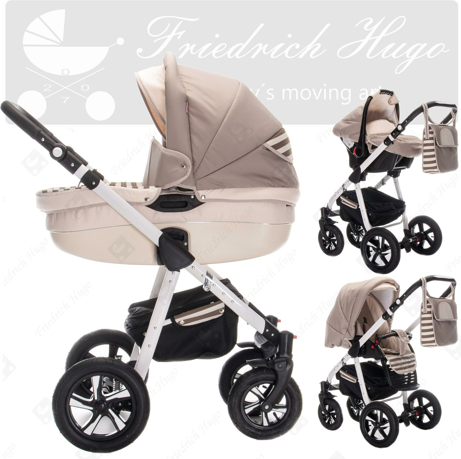 friedrich hugo mandala 3 in 1 kombikinderwagen kinderwagen buggy autositz eur 449 90. Black Bedroom Furniture Sets. Home Design Ideas