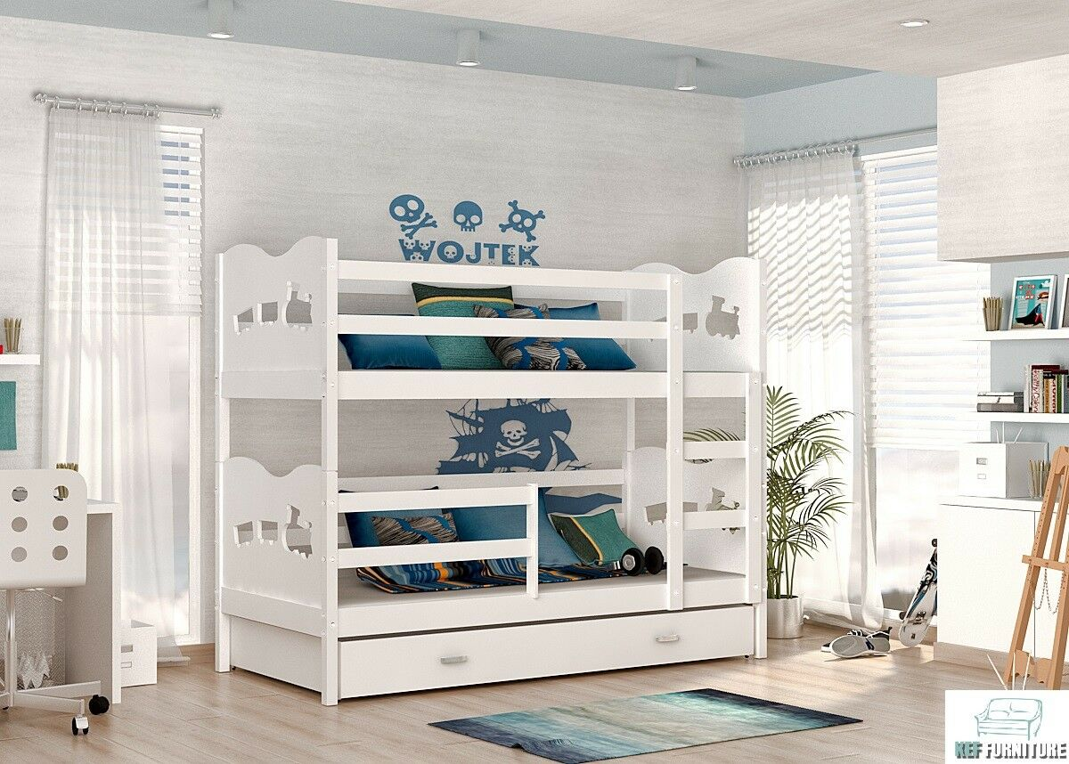 kinderbett luis etagenbett hochbett ko doppelstockbett bett stockbett weiss zug eur 371 07. Black Bedroom Furniture Sets. Home Design Ideas