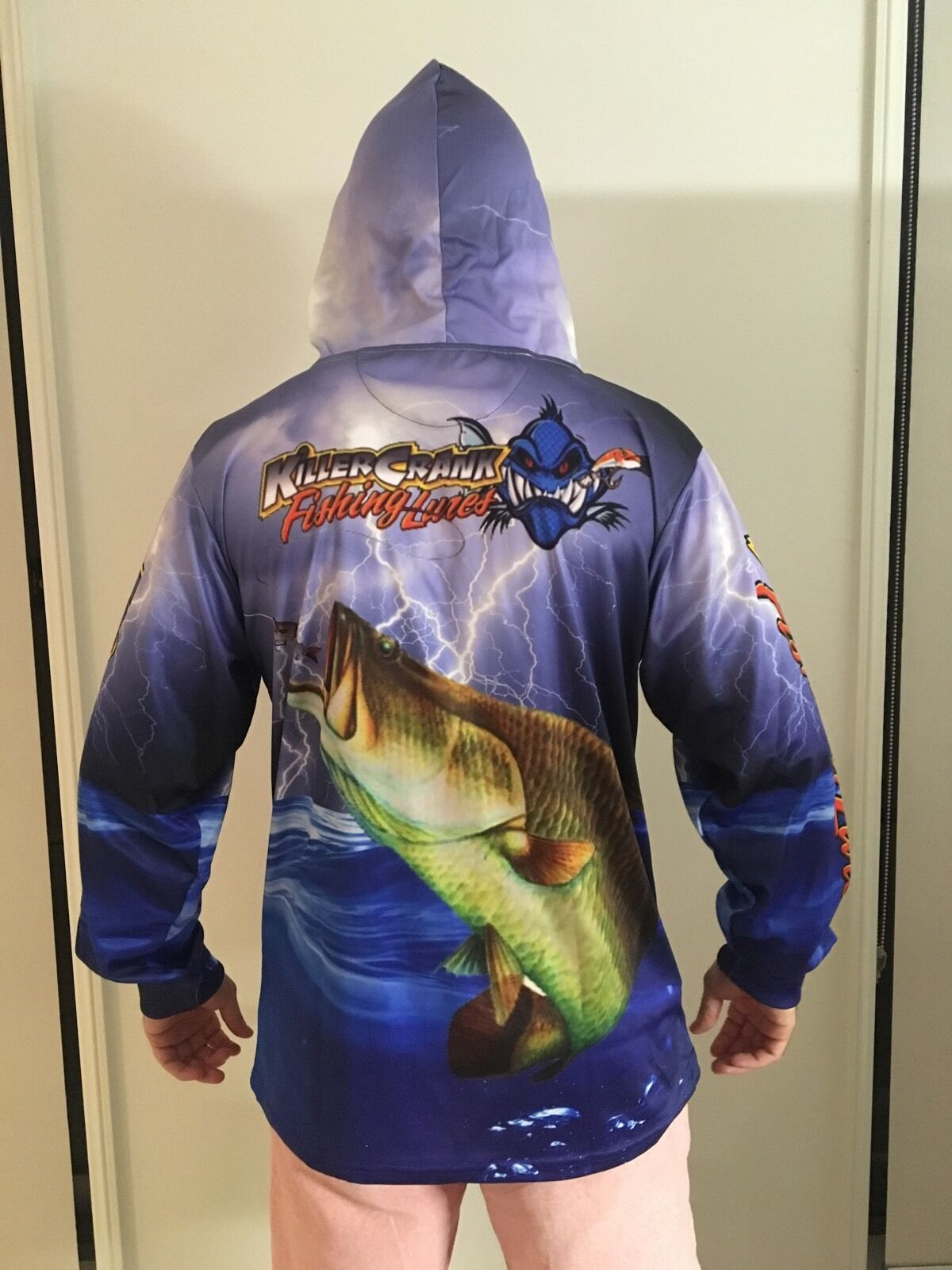 New killer crank tournament fishing shirt with hood all for Tournament fishing shirts