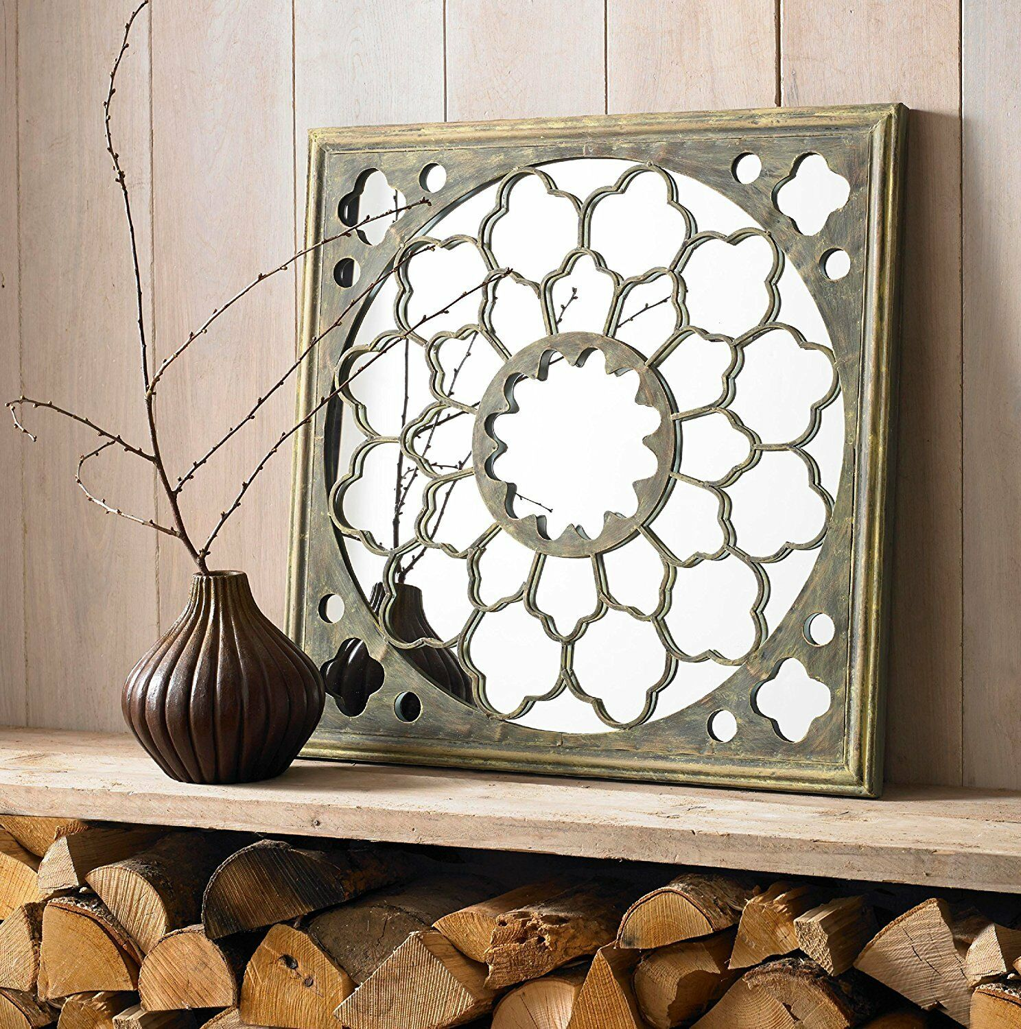 Wall Art In Mirror Frame : Home decoration mirror metal framed fretwork wall art