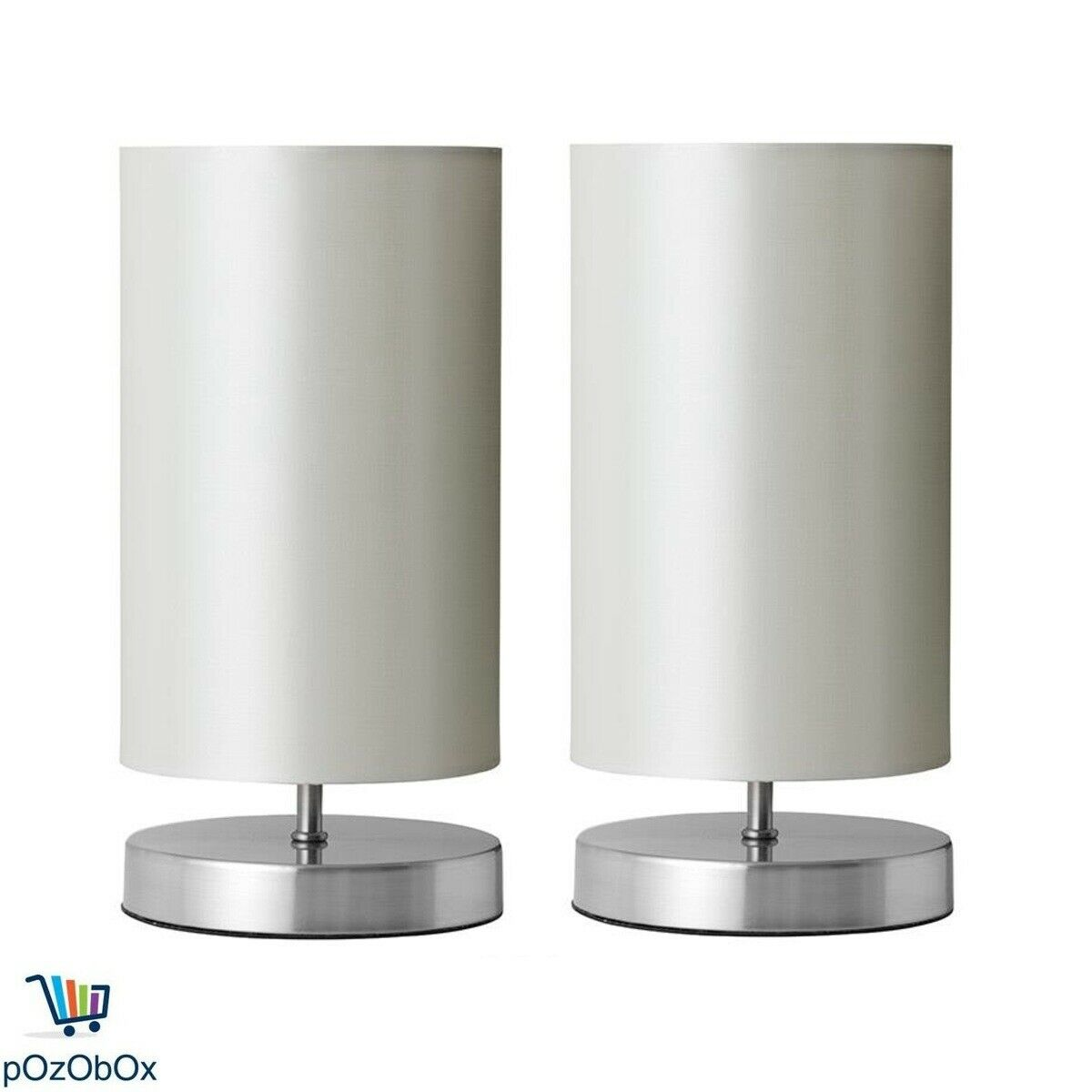 Set Of 2 Touch Lamp Table Desk Bedside Light Modern Side Home Decor Nightstand Aud